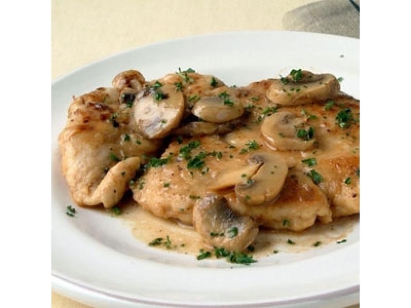 Κοτόπουλο α λα κρεμ με μανιτάρια
